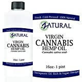100% Pure Cold Pressed Hemp Seed Oil