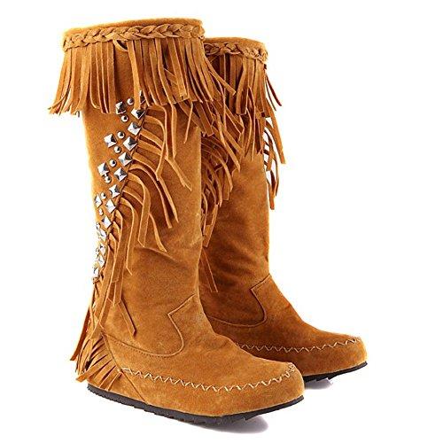 Heel 2 Classic Pull Women RAZAMAZA Yellow Low on Hidden Boots wSITZq