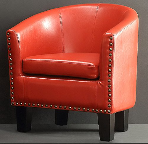 (Rosevera C2RD Duilio Barrel Chair, Red)