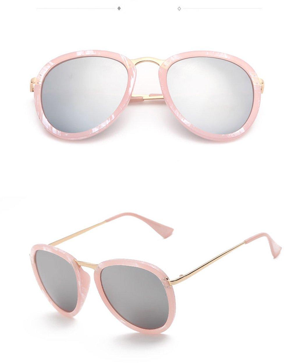 a675858de0 LYM &&Gafas de protecciónn Gafas de Sol de Moda Ronda Gafas de Sol  Elegantes Gafas de Sol Coreanas Gafas de Sol de protección UV -X54 (Color :  #4): ...