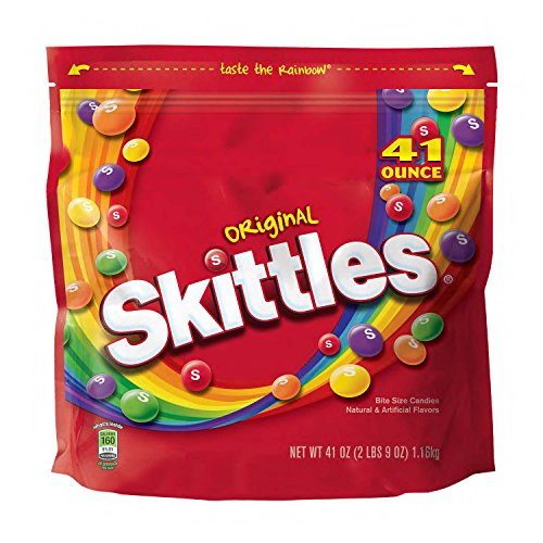 SKITTLES Original Fruity Candy 41-Ounce Party Size Bag]()