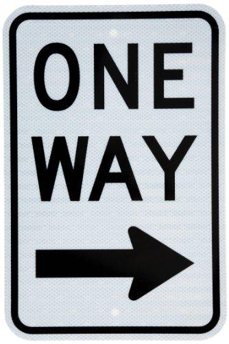 Tapco R6-2R Engineer Grade Prismatic Rectangular Lane Control Sign, Legend