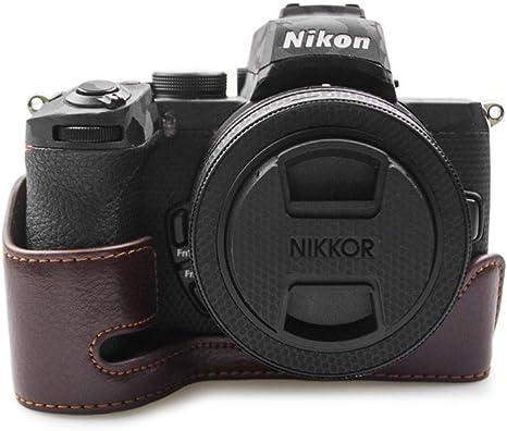 kinokoo Estuche de Cuero Genuino para Nikon Z50, Camera Z50 Estuche de Agarre Manual Estuche Inferior Medio Estuche para Nikon Z50 (café): Amazon.es: Electrónica