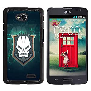 Be Good Phone Accessory // Dura Cáscara cubierta Protectora Caso Carcasa Funda de Protección para LG Optimus L70 / LS620 / D325 / MS323 // Skull Goth Team
