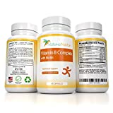 B-Complex Multivitamin Formula -Vitamins B5 – B6 – B12 Thiamine, Folic & Pantothenic Acid – Biotin – Niacin – Riboflavin + Choline – Super B Energy Vitamins – High Potency Organic Capsules – Bcomplex For Sale