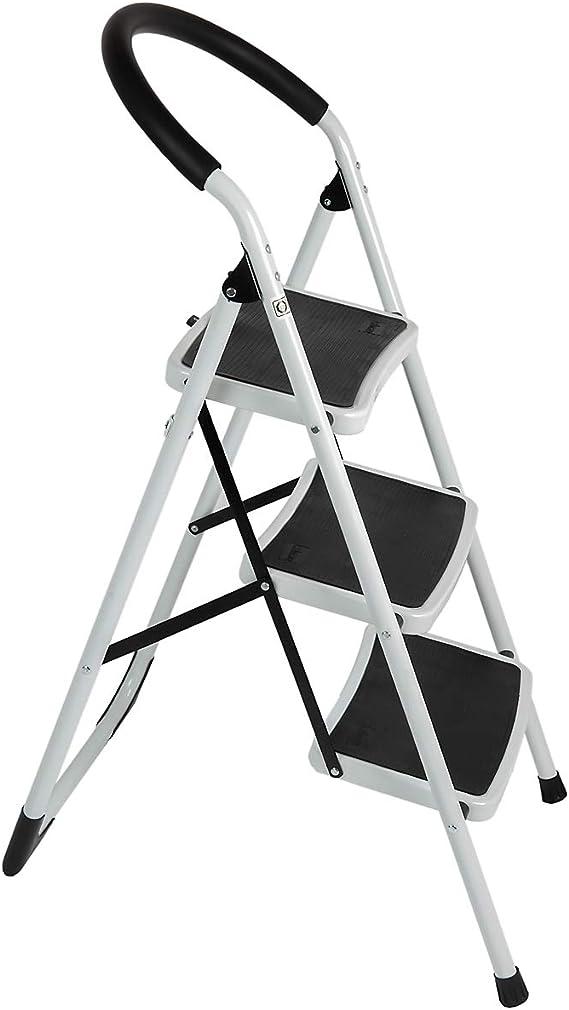 Zweistufige Leiter//Dreistufige Leiter Leiter Haushaltsklappbare Massivholz-Trittleiter Multifunktionale Doppelleitungs-Trittleiter B/üro-B/ücherregal-Leiter//Laden-Kletterleiter
