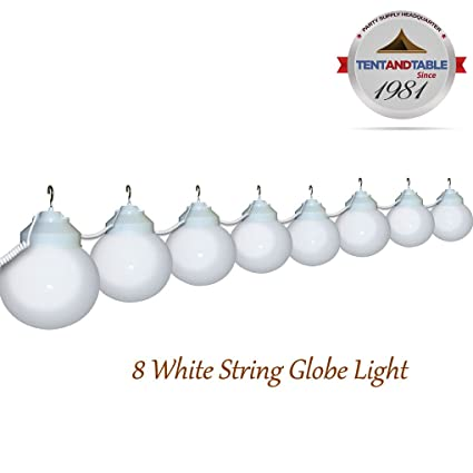 Amazon.com : TentandTable 8 Globe White Color String Lights Designed For Lighting  Outdoor Parties And Events : Garden U0026 Outdoor