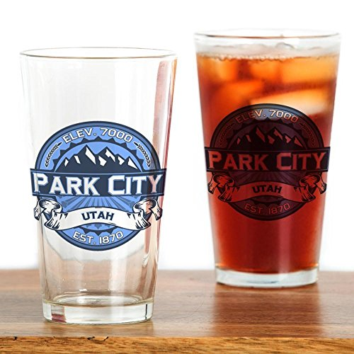 CafePress - Park City Blue Drinking Glass - Pint Glass, 16 oz. Drinking Glass (Party City Utah)