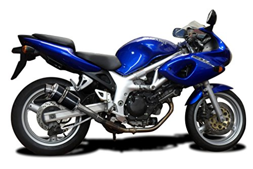 "Suzuki SV650 DS70 9"" Carbon Fiber Oval Muffler Exhaust Slip On 98 99 00 01 (Suzuki Sv650 Carbon Fiber)"