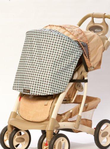 Buggy Shady Stroller Shade, Car seat Cover, Car Seat Shade, Stroller cover (Blue Surf) ()