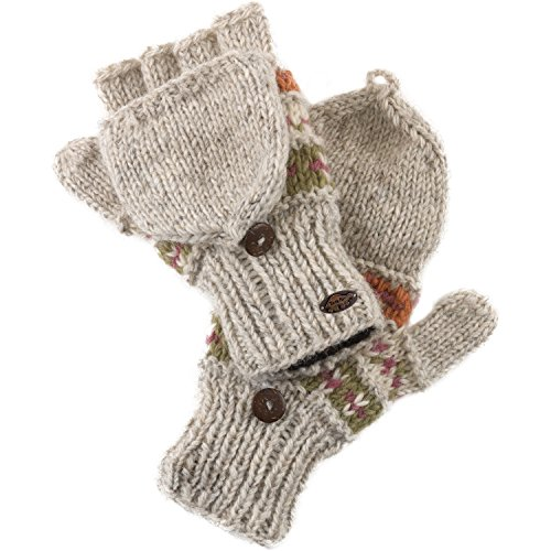 Turtle Fur Women's Nepal Tyler Flippy Artisan Hand Knit Wool Mittens, (Turtle Fur Fur Gloves)