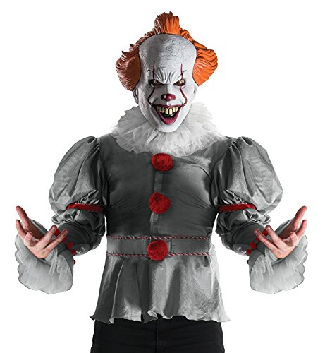 Rubie's Men's IT Costume, 2017 Version, Standard - Pennywise The Clown Costumes