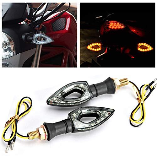 INNOGLOW Motorcycle Turn Signals Lights 12V Universal Motorbike Turn Signal Indicator Blinker Amber Light Lamp for Yamaha Honda Suzuki Kawasaki (2 PCS) (Turn Led Signals Moped)
