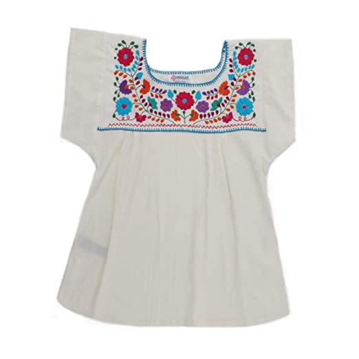 Mexican Clothing Co Womens Mexican Blouse Tehuacan Light Manta At