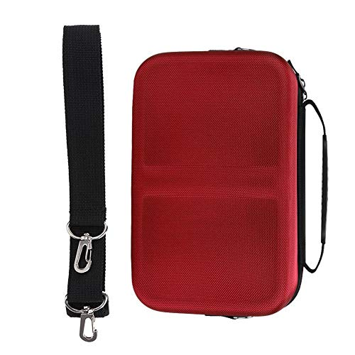 Large Capacity Storage Bag Handbag with Shoulder Strap for Switch Host Handle Controller, Game Machine Hard Eva Waterproof Drop-Proof Protection Carrying Case(Red)