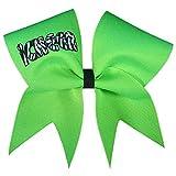 Chosen Bows Zebra iCheer Cheer Bow, Neon Lime