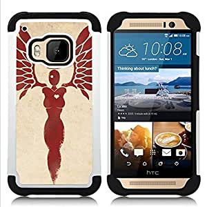 For HTC ONE M9 - ANGEL HEART BLOOD WINGS FEATHERS Dual Layer caso de Shell HUELGA Impacto pata de cabra con im??genes gr??ficas Steam - Funny Shop -
