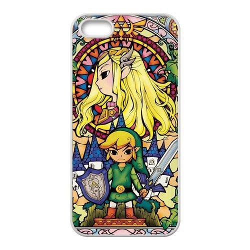 Coque iPhone 5S,Coque Pour iPhone 5S Transparent TPU Haute Densité Housse/Etui de protection The Legend of Zelda Coque Case pour iPhone 5 5S