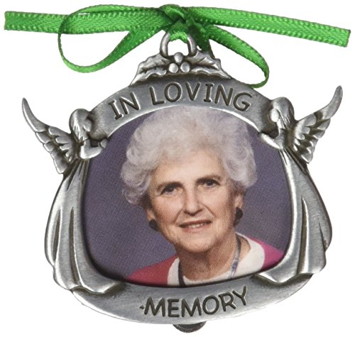Pewter Angel Photo Frame Ornaments (Cathedral Art CO621 In Loving Memory Angel Photo Frame, 2-3/4-Inch)