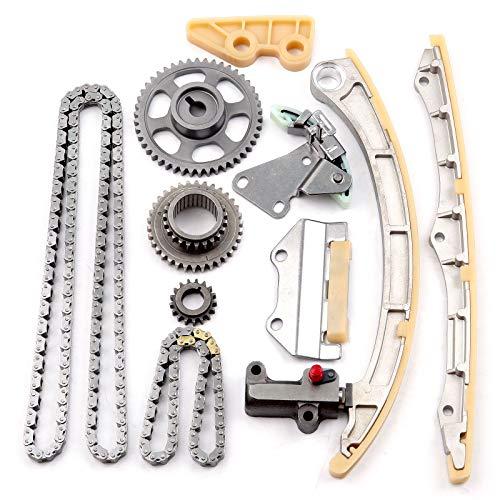 (OCPTY Timing Chain Kit Tensioner Guide Rail Oil Pump Chain fits for 2003-2007 Honda Accord 2.4L K24A1 K24A4 A8 TK4041 )