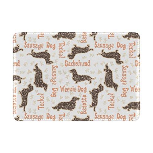 COOSUN Textured Dackel Hunde Leder Reisepass Hülle für Travel One Pocket