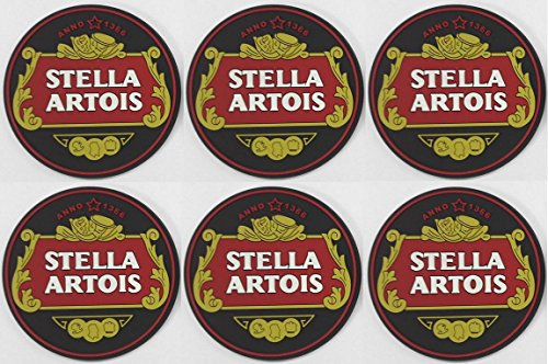 stella-artois-rubber-bar-coasters-spill-mats-set-of-6-new