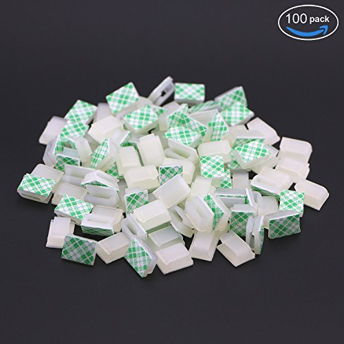 pasow-100-pcs-self-adhesive-car-cable-tie-cable-clips-cable-drop-wire-holder-organizer-139256-mm-whi