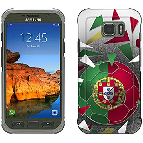 Samsung Galaxy S7 Active Case, Snap On Cover by Trek Soccer Ball Portugal Flag Slim Case Sales