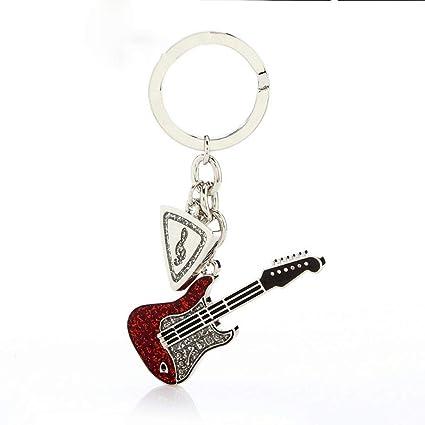 SLH Guitarra Creativa Llavero Colgante Pareja Llavero Mujer ...