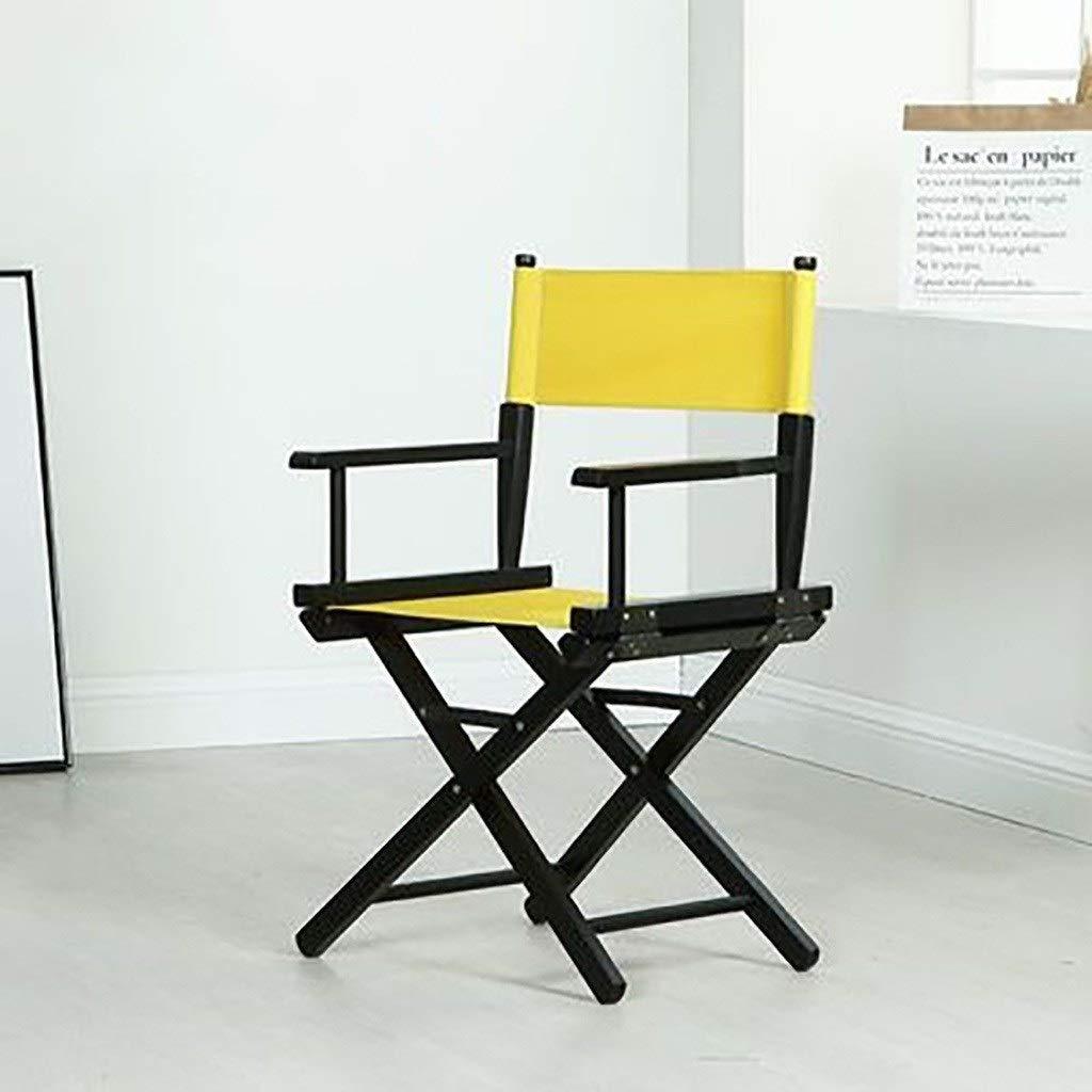 YTYZD Ersättnings kanvas stolskydd för regissörsstolar, mellansätesskydd ryggstöd stolsskydd med rund pinne (färg: Orange) gUL