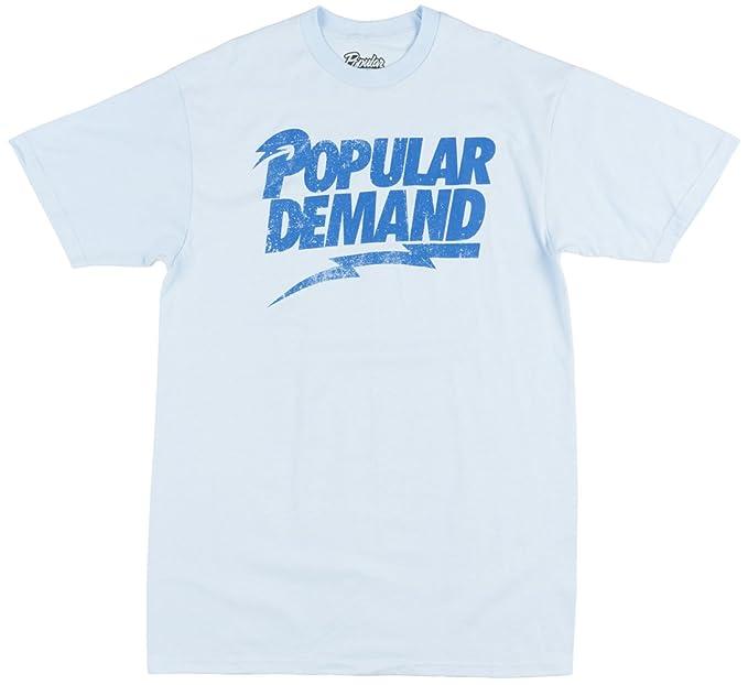 eb95fb8e Popular Demand Rebel Logo Mens T-Shirt in Sky Blue | Amazon.com