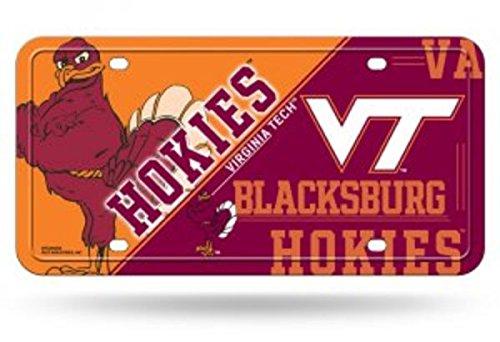 NCAA Virginia Tech Hokies Metal License Plate Tag