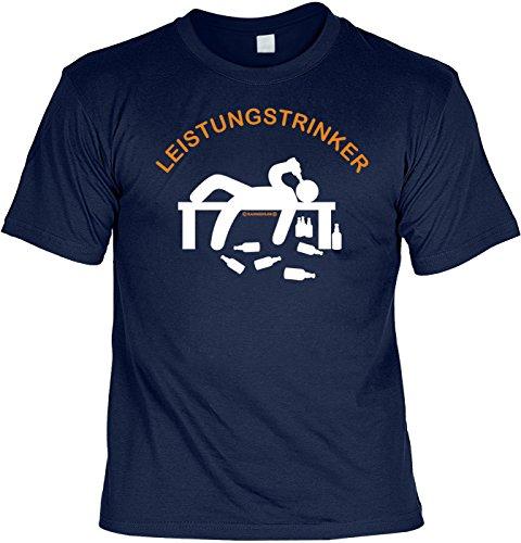 T-Shirt mit Wunschname - Leistungstrinker - Lustiges Sprüche Shirt als Geschenk für Leute mit Humor - NEU mit persönlichem Namen