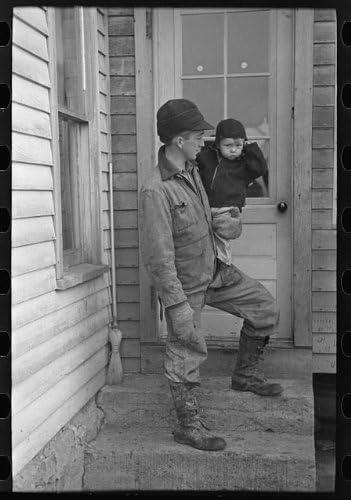 HistoricalFindings Photo Hired Hand on Lyle Askelands Farm Near Armstrong,Iowa,IA,Farm Security Admin,2