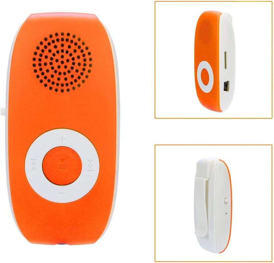Mitlfuny Mini USB Clip MP3 Player Support Up To 32GB Micor SD Card For Sports /& Running Music Media A-Orange Hot Pink TF