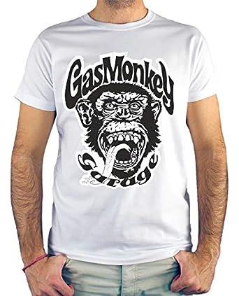 Camiseta Hombre - Unisex Gas Monkey Garage: Amazon.es: Ropa y ...