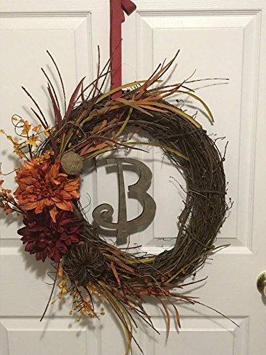 Fall wreath. Initial. Autumn. (Bandana Wreath)