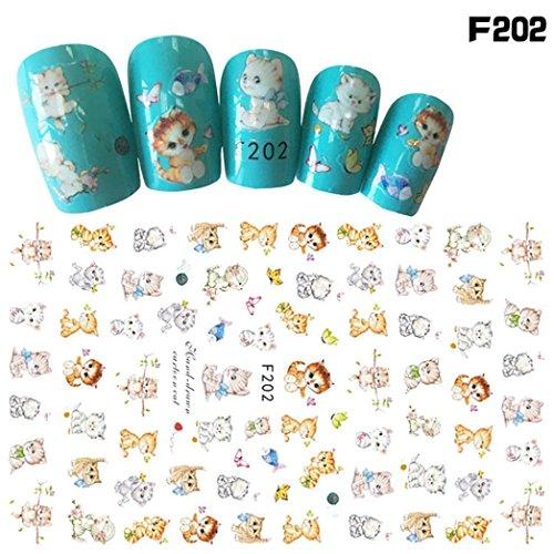 Rongron 1Pcs Women Nail Art Nial Sticker Halloween Designs Girl Beauty Nail Tools (H) (5 Easy Halloween Nail Designs)