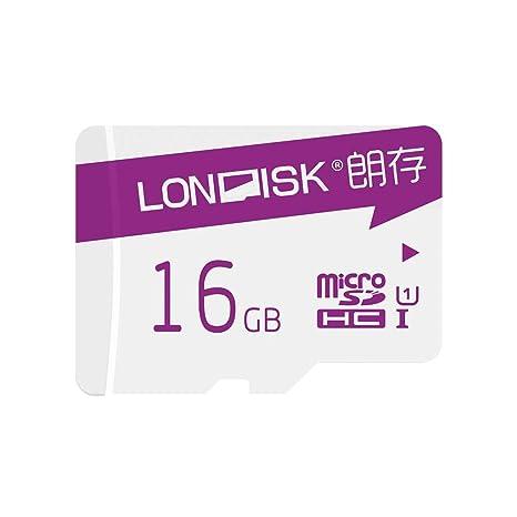 Tarjeta de memoria LONDISK Robot de 16 GB Tarjeta Micro SD Clase 10 U1 Tarjeta Micro SDHC con adaptador SD para reproducción de video Hero / HD (U1 16 ...