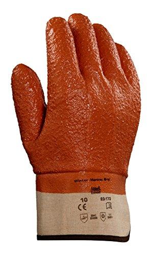 Ansell Winter Monkey Grip 23-173 Raised Finish PVC Coated Glove, Size 10 (XL), 1 pr