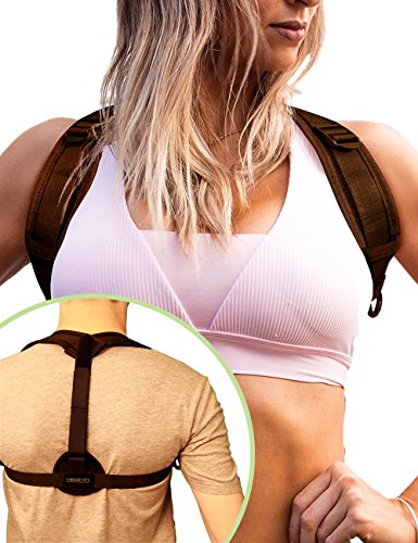 LONGEVITY Posture Corrector for Women and Men - Effective, Comfortable and Discreet Back and Shoulder Support Brace for Slouching, Hunching, Scoliosis and Kyphosis. Simple On/Off and Easily Adjustable Advantage Computer Desk