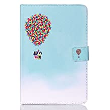 Galaxy Tab A 8.0 Case, Easytop Premium PU Leather Flable Stand Wallet Case with Built-in Card Slots, Cash Pocket, Magnetic Closure for Samsung Galaxy Tab A 8.0 Inch SM-T350 Tablet (Air Balloon House)