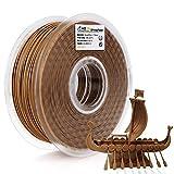 AMOLEN Dark Wood Walnut PLA Filament 1.75mm,Walnut 3D Printer Filament,1KG