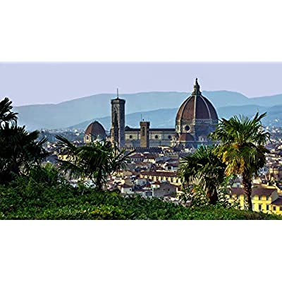 Classic Jigsaw Puzzle 1000 Piece Adult Children Puzzle DIY Florence Italy Wooden Puzzle Modern Home Decor Festival Gift Intellectual Game Wall Art 75x50cm: Toys & Games