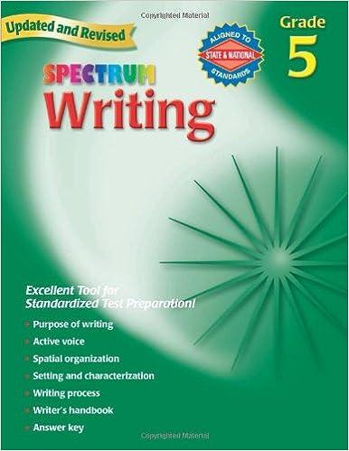 Amazon.com: Writing, Grade 5 (Spectrum) (9780769652856): Spectrum ...