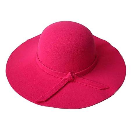 a16233c5 Minzhi Girls Vintage Retro Kids Child Hats Polyester Felt Crushable Wide  Brim Cloche Floppy Sun Beach Cap: Amazon.co.uk: Kitchen & Home