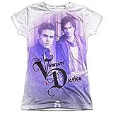 Trevco Juniors: Vampire Diaries- Young Stefan and Damon Juniors (Slim) T-Shirt Size XL