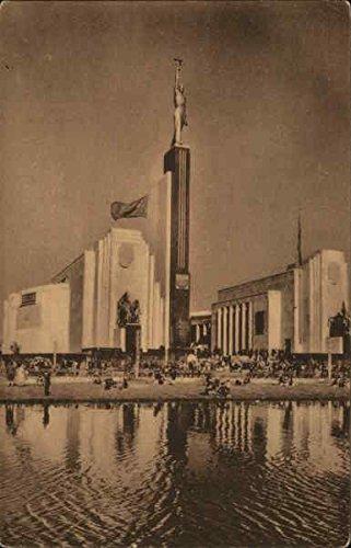 Vintage Union Label (The Pavilion of the USSR, New York World's Fair New York Original Vintage Postcard)