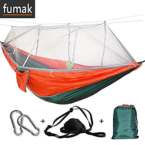 Sports & Entertainment 1-2 Person Outdoor Mosquito Net Parachute Hammock Portable Double Swing
