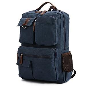 Vintage Casual Canvas Backpack Schoolbag College Laptop Backpack Travel Daypack